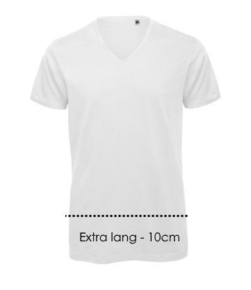 Extra lang v-hals 10 cm
