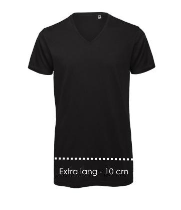 Lange T-shirts v-hals 10 cm